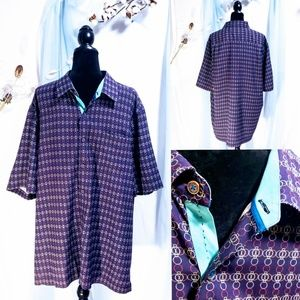 Nat Nast Men's XL 100% silk Button Down🦅